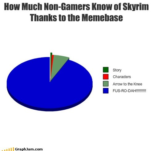 best of week,gamers,no love,Pie Chart,self referential,Skyrim,video games