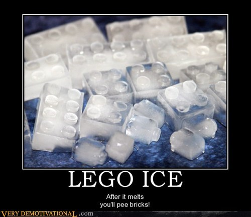 hilarious ice lego pee water