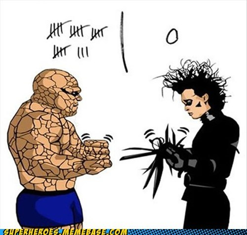 Awesome Art,edward scissor-hands,paper scissors,rock,thing