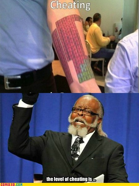 cheating jimmy mcmillan meme periodic table the internets too damn high