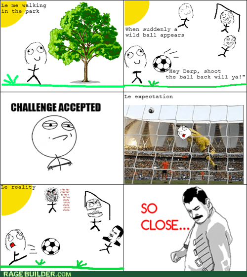 kick Rage Comics so close soccer