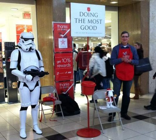 charity,nerdgasm,salvation army,star wars,stormtrooper