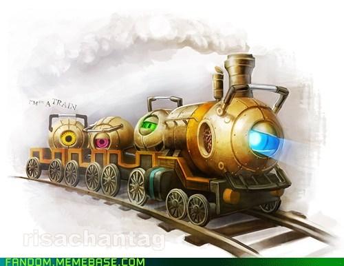 Fan Art Portal space core Steampunk video games Wheatley - 5548527104
