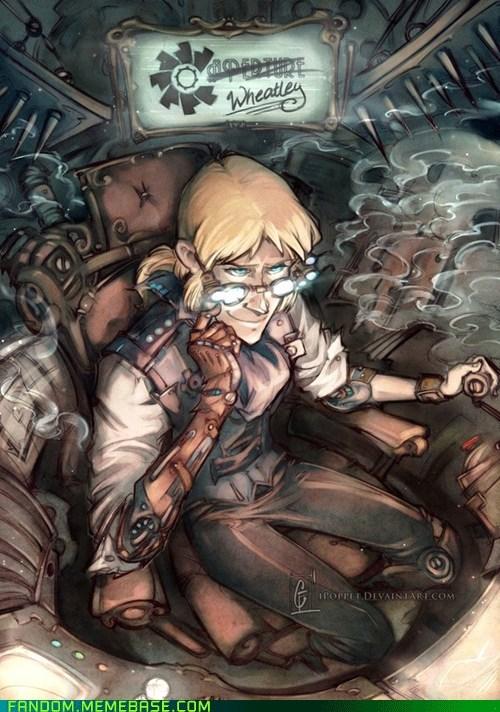 Fan Art portal 2 Steampunk video games Wheatley - 5548542976