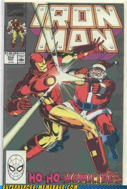 christmas cover iron man santa Straight off the Page wtf - 5549156096