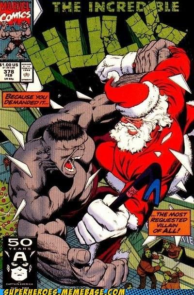 bizarre hulk santa Straight off the Page wtf - 5549157888