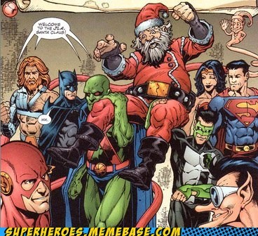 batman justice league no parents Sad santa Straight off the Page - 5549164032