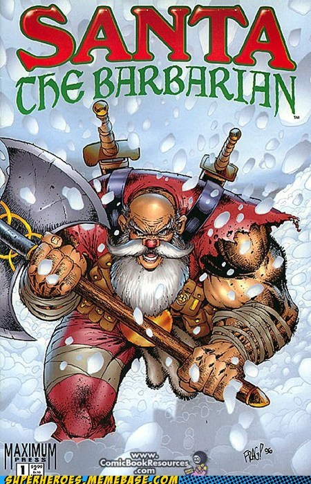 battle axe christmas santa Straight off the Page wtf - 5549169664