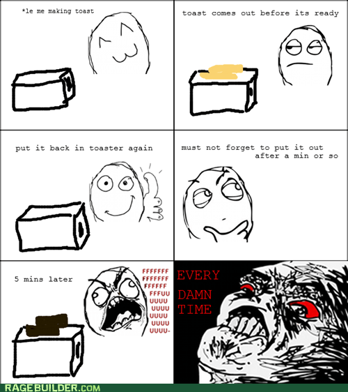 burnt,Rage Comics,toast,toaster