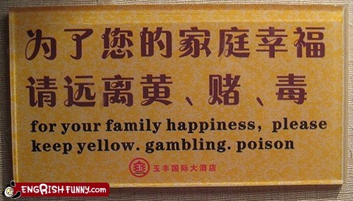 gambling,poison,take out the periods
