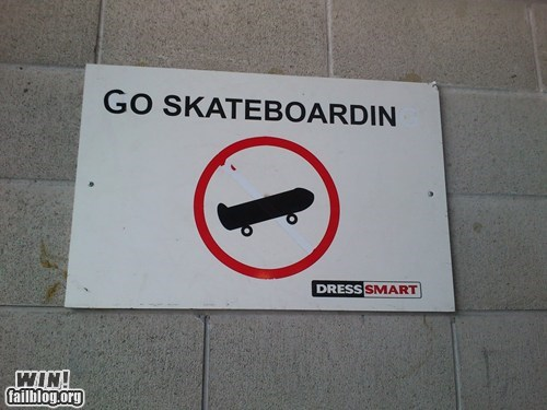 clever hacked irl notice sign skateboarding skating - 5549510144