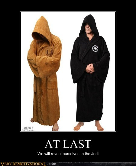 bathrobe Exposé hilarious Jedi sith