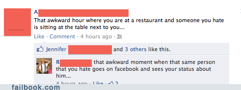 Awkward facebook failbook g rated oh snap rude social media talking trash - 5550498560