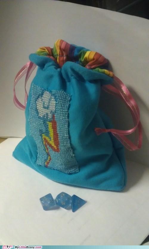 dice dice bag Fan Art my little pony rainbow dash