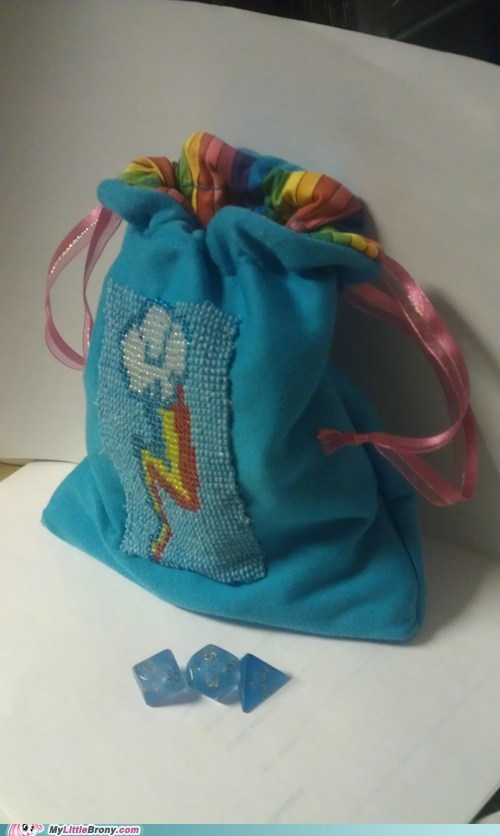 dice dice bag Fan Art my little pony rainbow dash - 5550670592