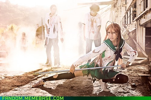 anime cosplay High School Of The Dead manga - 5550750464
