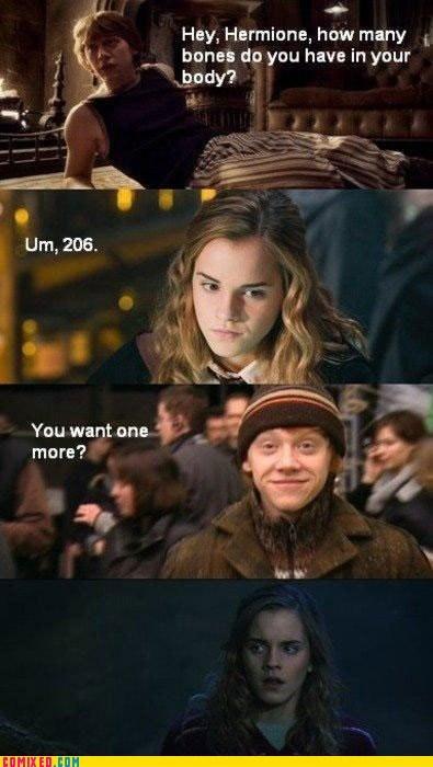 bones Harry Potter hermione ron wood - 5550854400