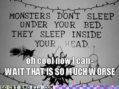 bed best of week dreams monster sleep weird kid - 5550872576