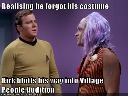 Captain Kirk costume Shatnerday Star Trek village people audition William Shatner - 5551093248