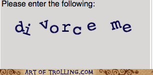 captcha divorce forever alone - 5551433984