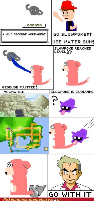 comic evolution Evolve level up shellder slowpoke - 5551831808