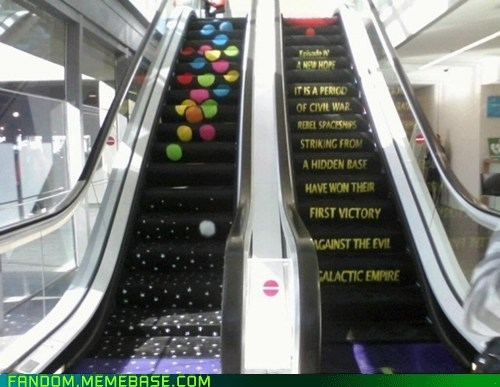 escalator fandom It Came From the Interwebz Memes scifi star wars - 5551973376