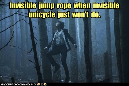 invisible,jim sturgess,jump rope,movies,unicycle,upside down