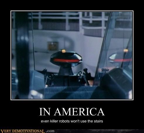 america fat joke hilarious robots stairs - 5552046336