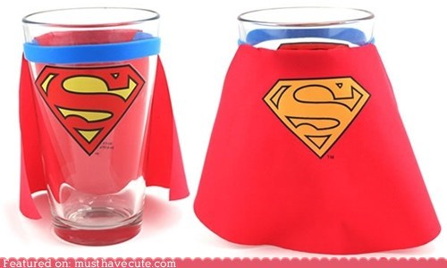 best of the week,cape,logo,pint glass,rubber band,Super,superman