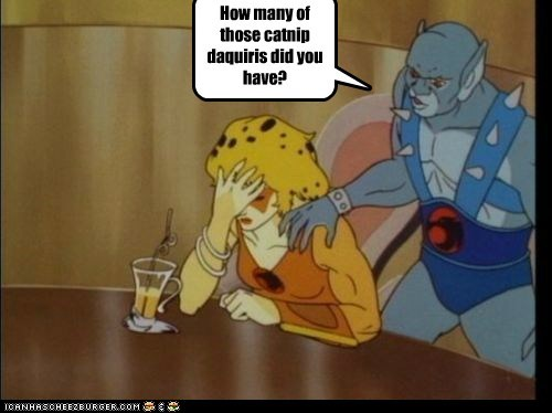 catnip,cheetara,daquiris,drunk,panthro,thundercats