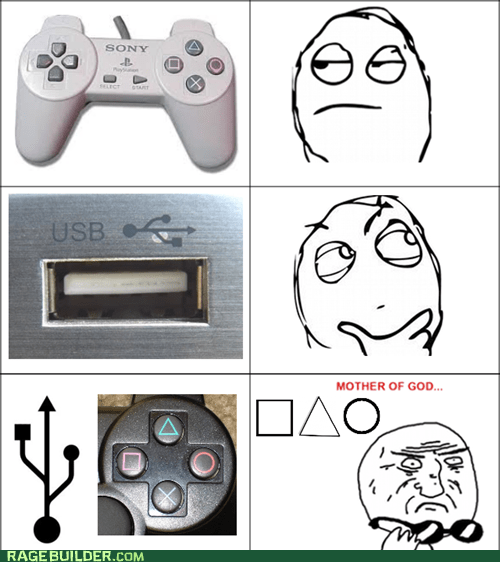 controller playstation Rage Comics usb icon