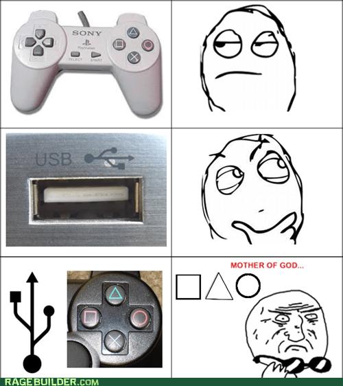 controller playstation Rage Comics usb icon - 5552785920