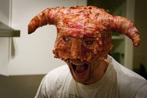 bacon,bacon helmet,dragonborn,Fan Art,helmet,Skyrim,video games