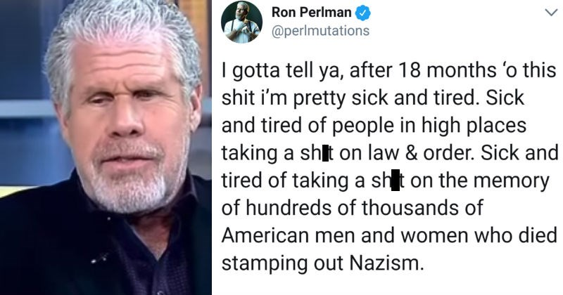 twitter Ron Perlman democracy live tweet hellboy politics - 5552901