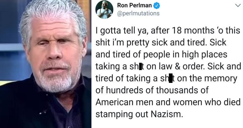 twitter Ron Perlman democracy live tweet hellboy politics - 5552901