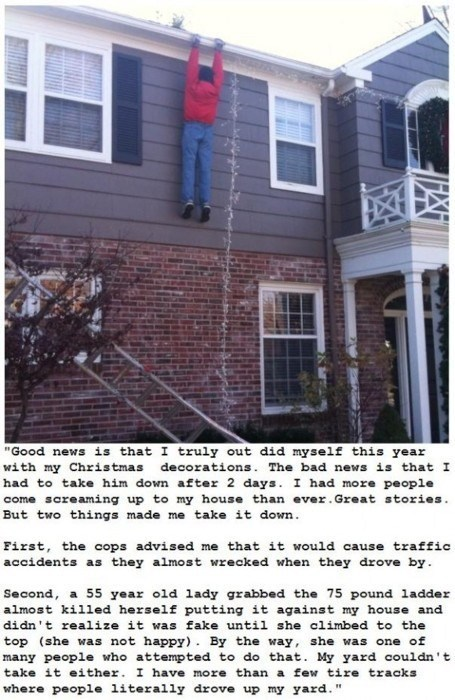 accident christmas christmas lights decorations dont-leave g rated grip hanging sketchy santas whoops - 5553725184