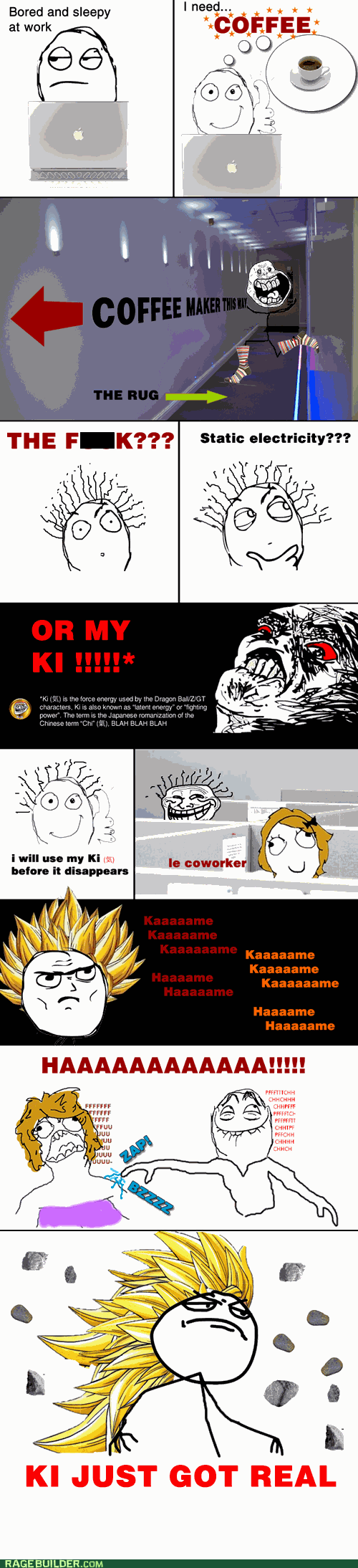 Like a Boss work dragonball z Office coffee - 5553952000