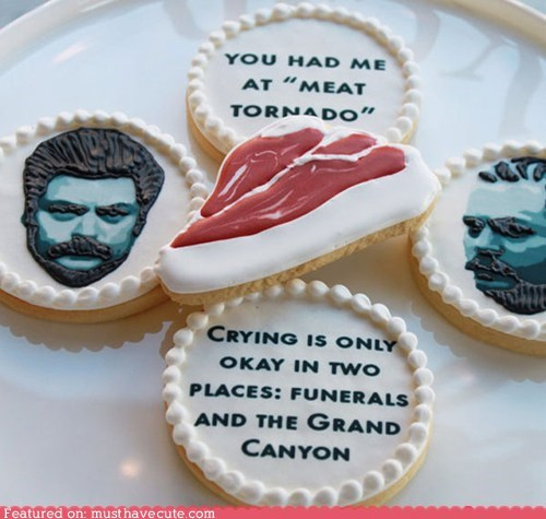 cookies meat parks and recreation quotes ron swanson - 5553982208