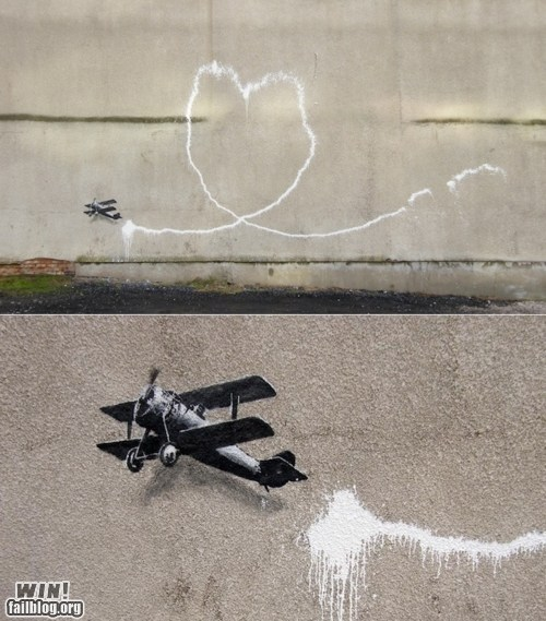 art banksy graffiti hacked irl plane Street Art tag - 5554066432