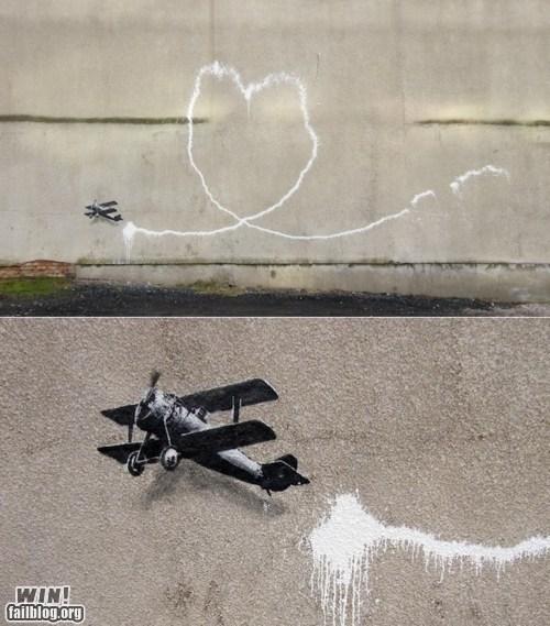 art banksy graffiti hacked irl plane Street Art tag - 5554066432