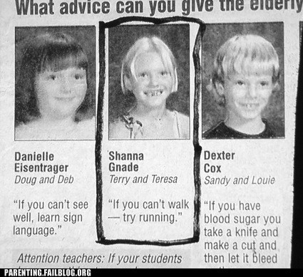 advice g rated interview kids are dumb newspaper parenting Parenting Fail - 5554157568