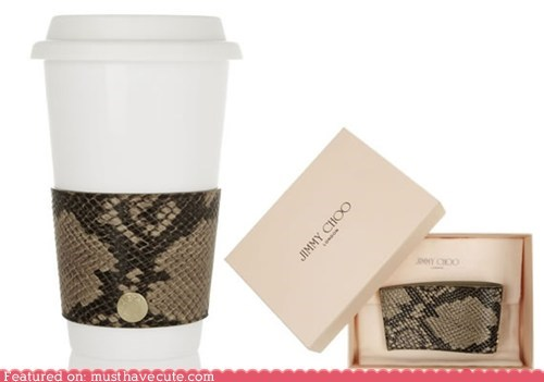coffee collar cup expensive hot jimmy choo luxury