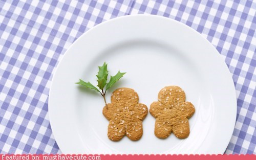 cookies,epicute,gingerbread,holly,men,people,plate,table