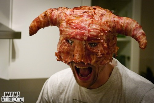 bacon,food,fus ro dah,gross,helmet,Skyrim