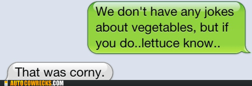 corny jokes lettuce pun puns vegetables - 5554375424