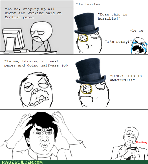 essay papers Rage Comics truancy story - 5554414848