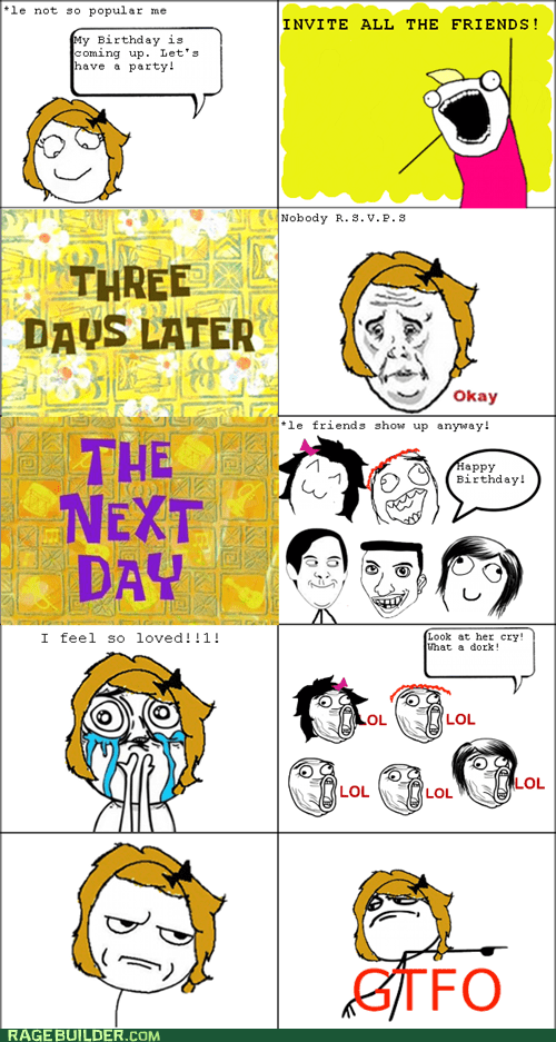 birthday cry Party Rage Comics rsvp - 5554492160
