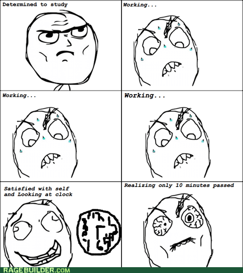 Rage Comics,studying,time,truancy story