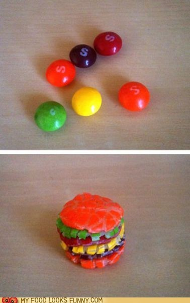 burger,candy,skill,skittles,smash