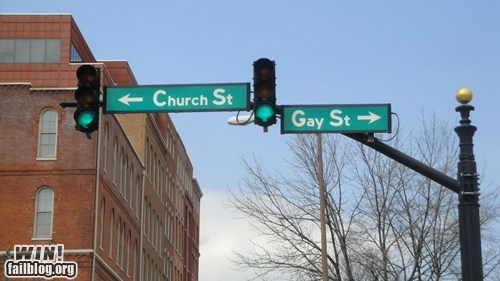 church hehe sign street names whoops - 5554577920